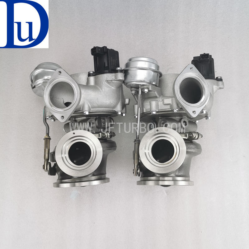 BMW 760 6.0T engine twin turbos MGT2260S 786331-6 786332-6 7562051D03 7562050D03
