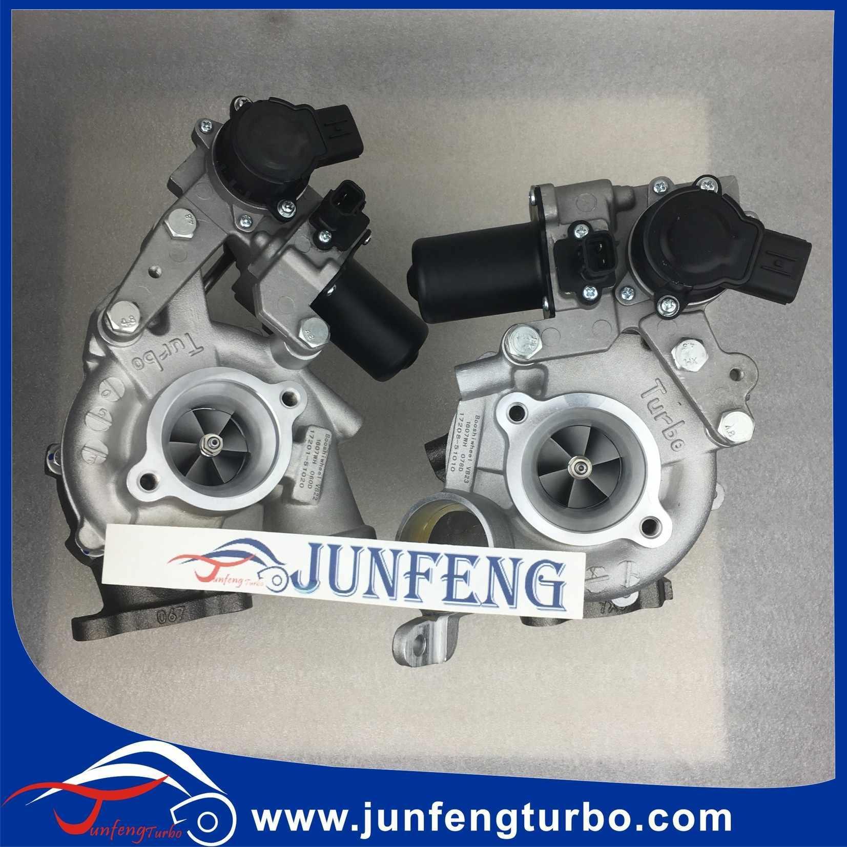 RHV4 VB23 Turbo 17208-51010 17201-78032 with 1VD turbocharger